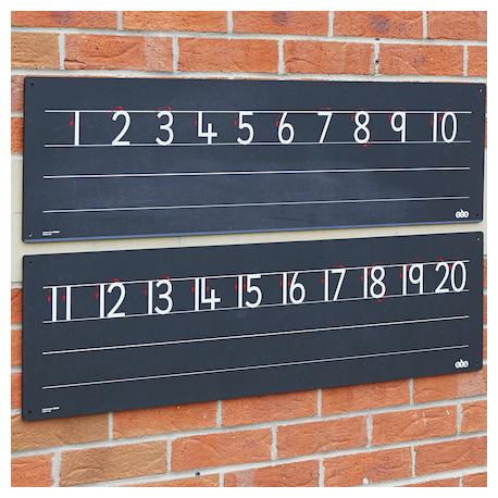 Frise d'extérieur à nombres