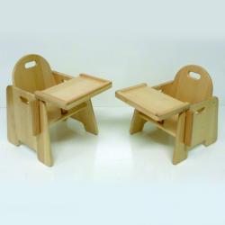 Chaise d'alimentation en bois pour bébés 40 cm une pièce