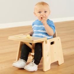 Chaise d'alimentation en bois pour bébés 45 cm une pièce