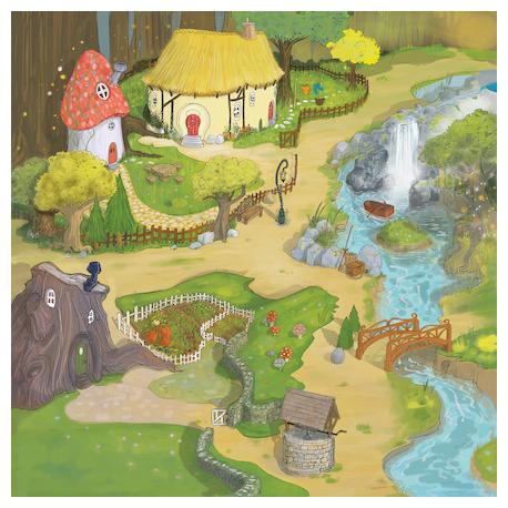Tapis Monde magique Active World