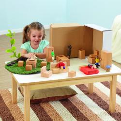 Ensemble pour maison de poupées en bois pour tout-petits
