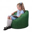 Pouf pour enfant imprimé herbe