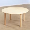 Table ronde et chaises en hêtre massif