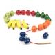 Fruits en bois à lacer