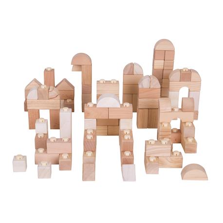 Blocs à clipser en bois naturel