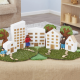 Maisons en bois pour ville miniature