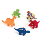Dinosaures tricotés