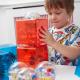 Cubes de construction ouvrables en plastique
